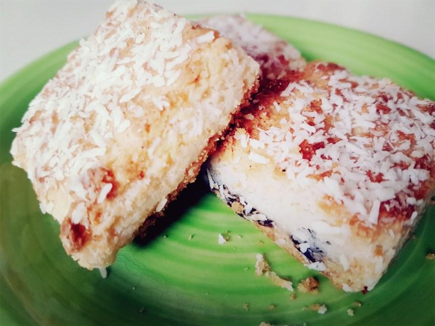 Yum, abrikoos-kokos carrés