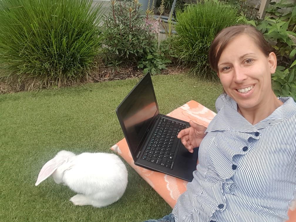werken met konijn erbij