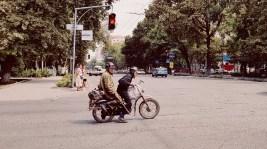 Straatbeeld Bishkek Kirgizië