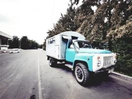 straatbeeld Kirgizië Bishkek