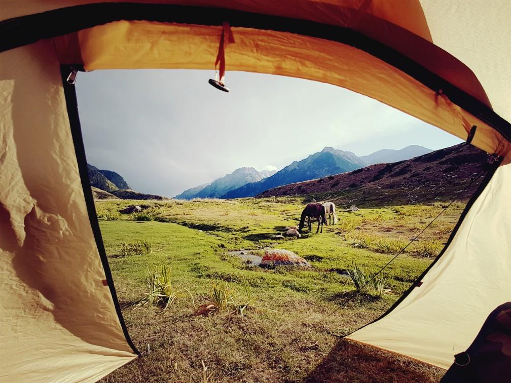 Kirgizië paardrijden Tien Shan bergen