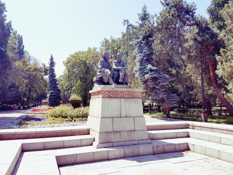 Marx en Engels in Oak Park Bishkek