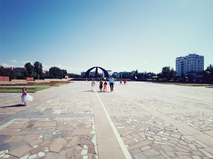 Bruiloft op Victory Square