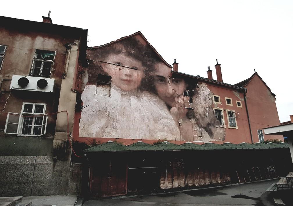 Zagreb streetart Kroatië