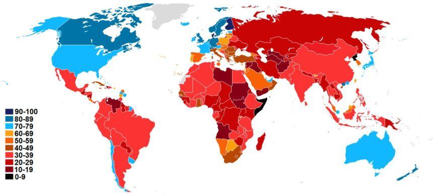 corruptie index