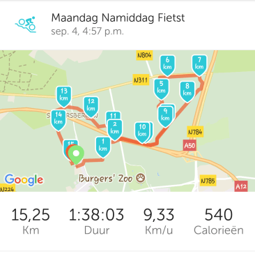 Endurance training paard Runkeeper tracking