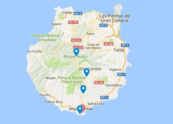 Gran Canaria kaart