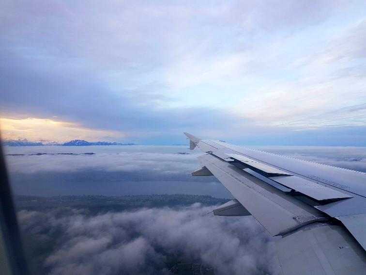 alpen swiss air zonsopkomst