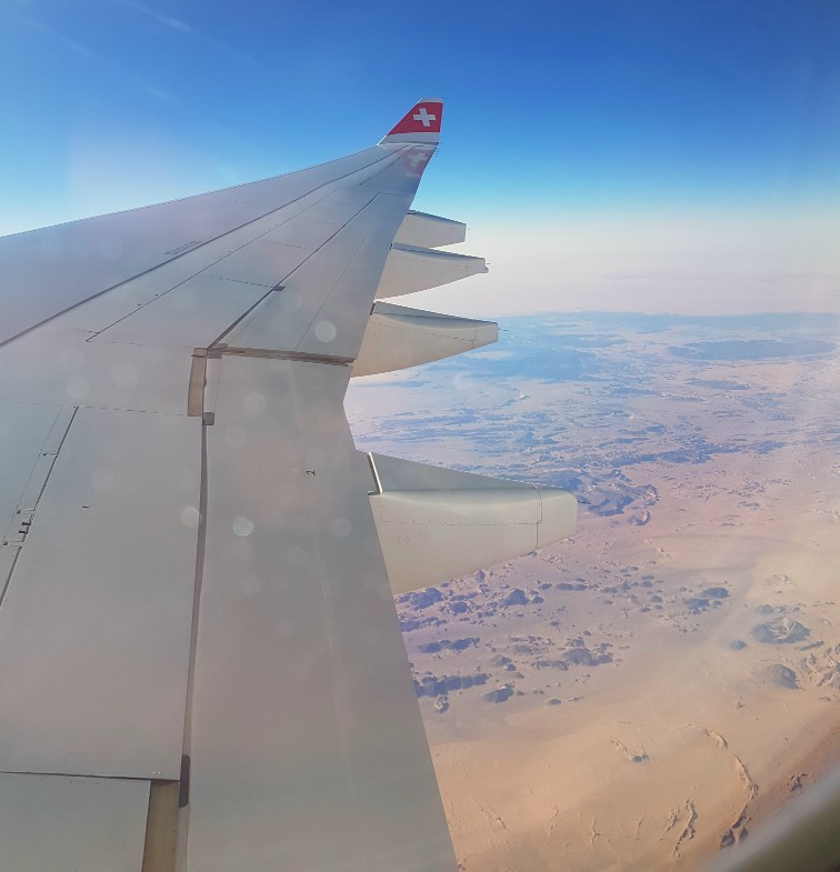 Swiss Air woestijn Sahara