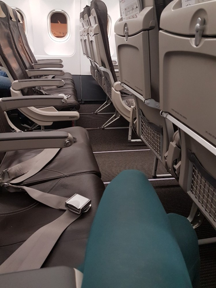 vliegtuig lege stoelen
