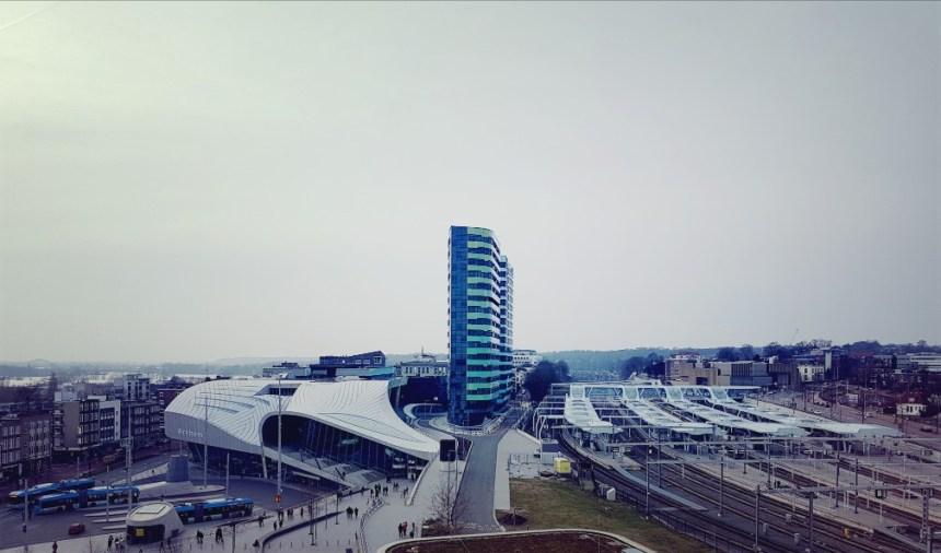 Uitzicht Arnhem station pathe