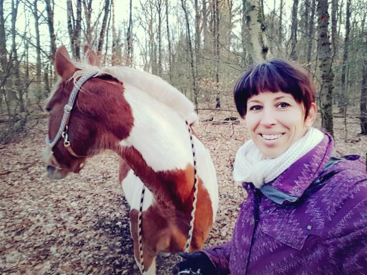 Selfie bonte pony