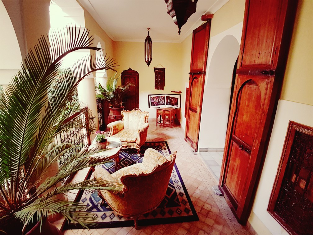 inrichting Riad el Youssoufi Marrakesh Marokko