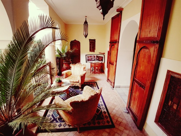 inrichting Riad el Youssoufi Marrakesh Marokko