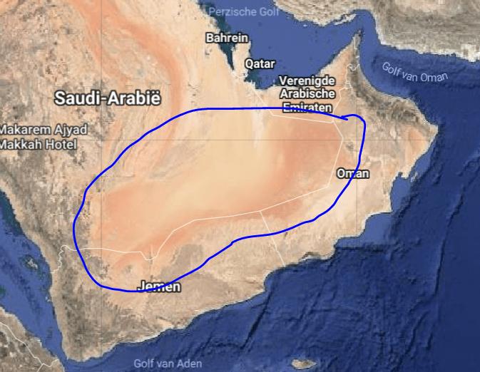 Empty quarter Oman