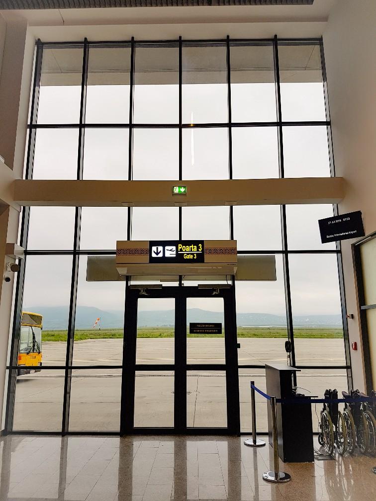 Uitzicht luchthaven Bacau in Roemenië