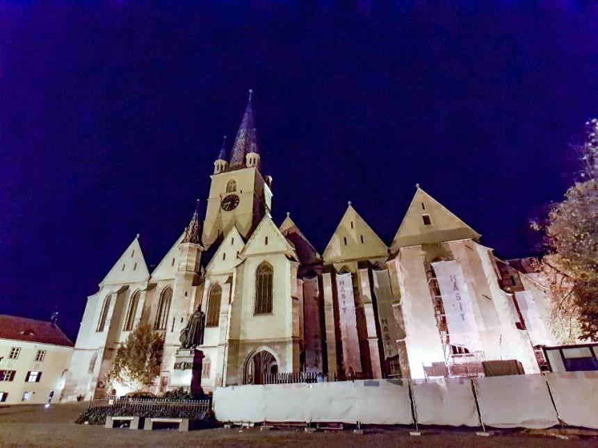 Oude kerken in Sibiu, Roemenië