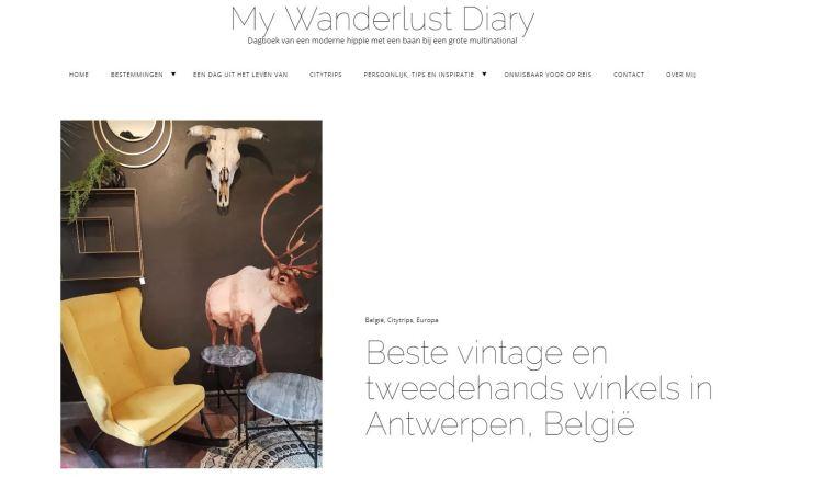 screenshot My Wanderlust Diary