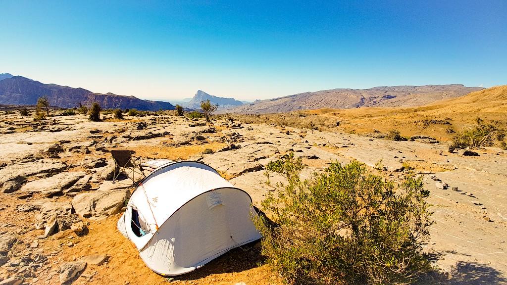 Wildkamperen Jebel Shams Western Hajar Oman
