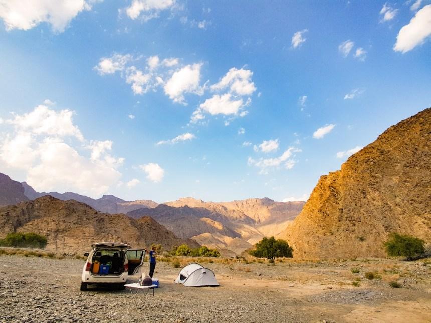 wildkamperen Wadi Bani Awf Oman