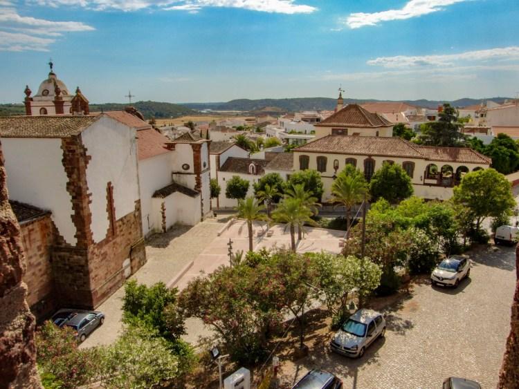 Silves uitzicht dorp Algarve Portugal
