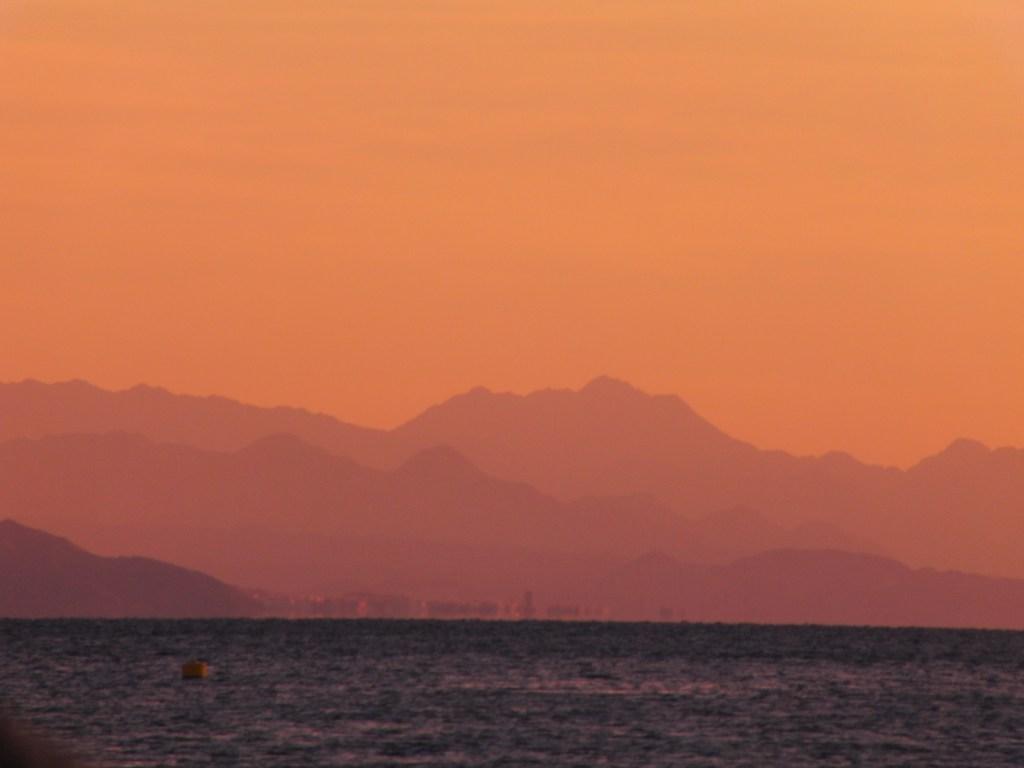 Zonsondergang Eilat Rode Zee Israël