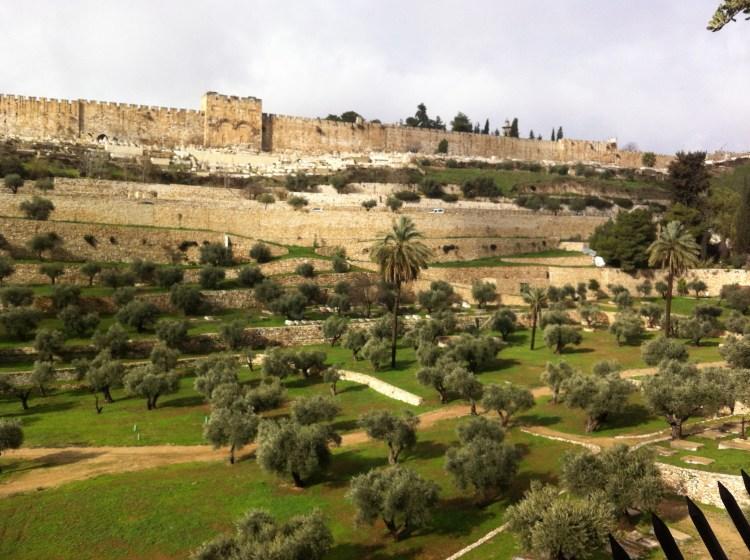 Stadsmuren park Jeruzalem Oude stad