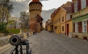 Sibiu Roemenië oude centrum