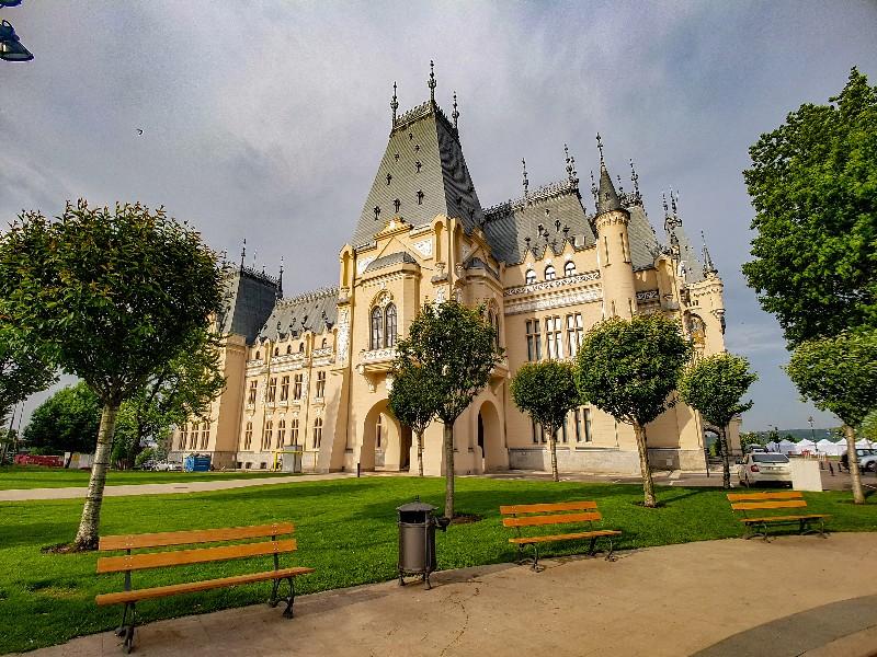 Cultuurpaleis Iasi oude centrum Roemenië