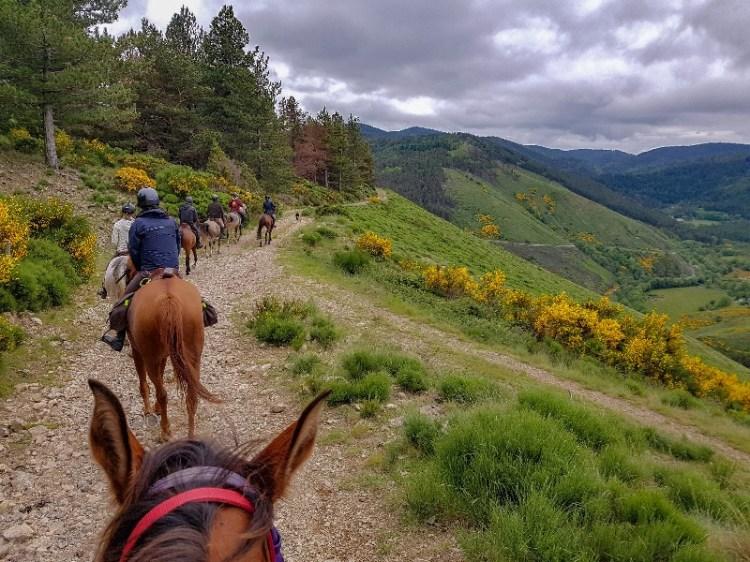 Lozere paardrijden Frankrijk Sommant Horse team