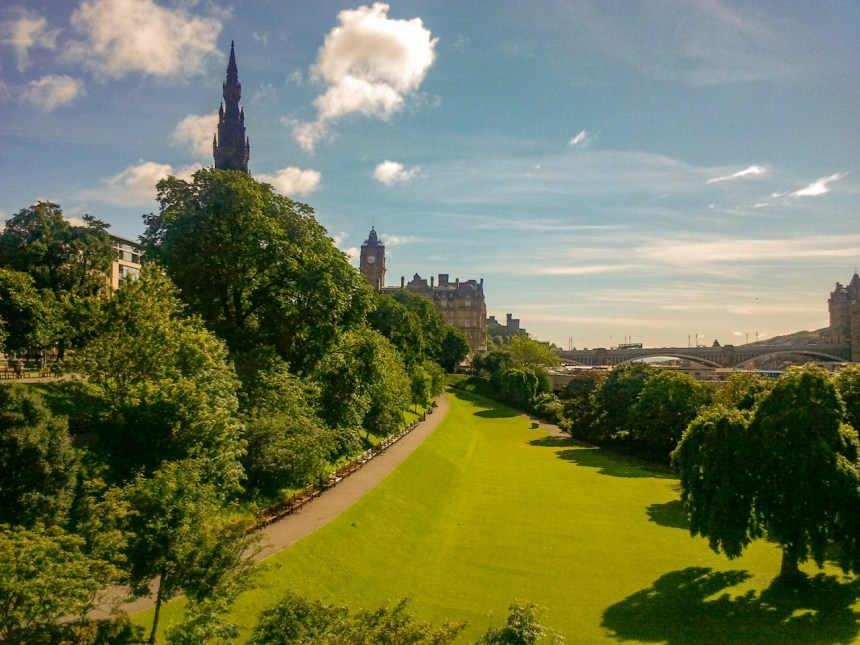 Princess Street Gardens Edinburgh Engeland Schotland