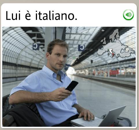 he is italian