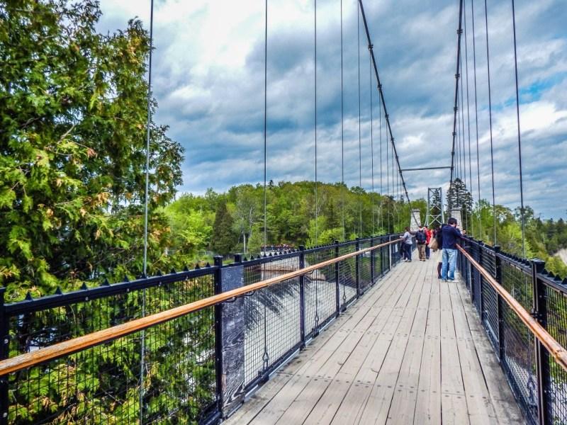 montmorency falls quebec city suspension bridge