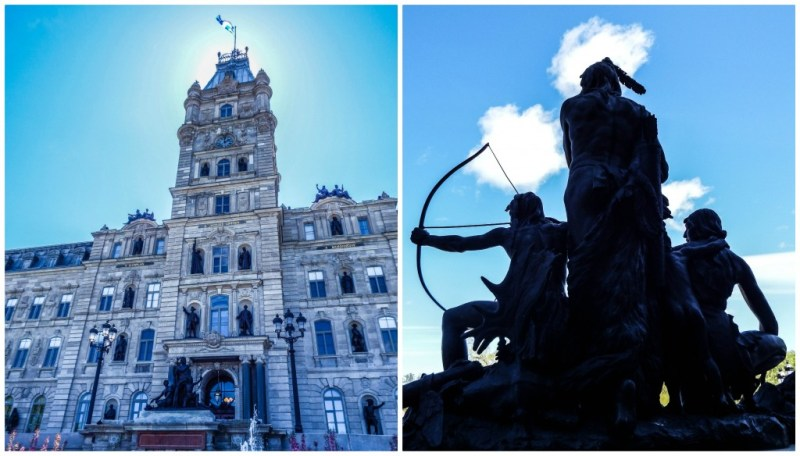 quebec city parliament statues