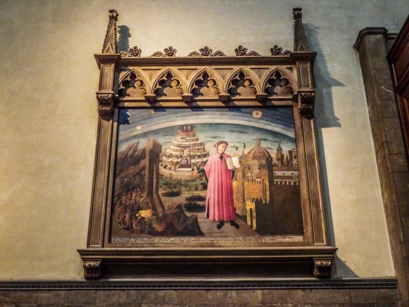 florence italy duomo dante painting