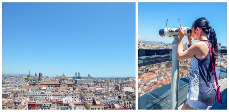 The rooftop view from the Barcelo Raval hotel in Barcelona, Spain