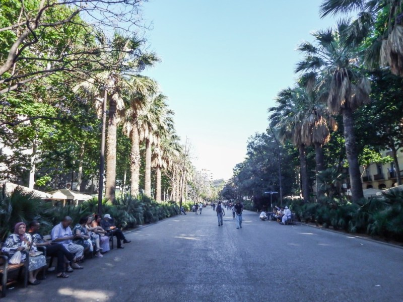 The Raval neighborhood of Barcelona, Spain