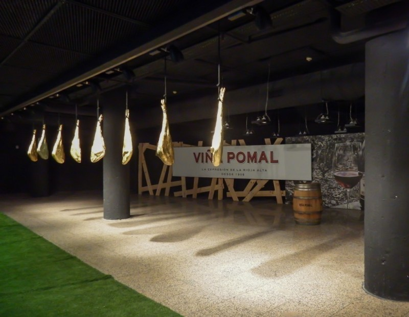 Museum inside the Jamon Experience in Barcelona, Spain