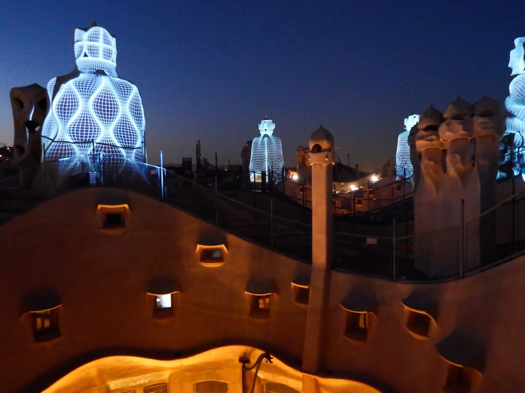 The rooftop of Antoni Gaudí's Casa Mila during La Pedrera: The Origins in Barcelona, Spain