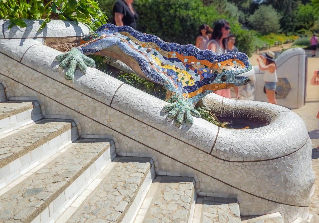 Antoni Gaudí's lizard at Park Güell in Barcelona, Spain