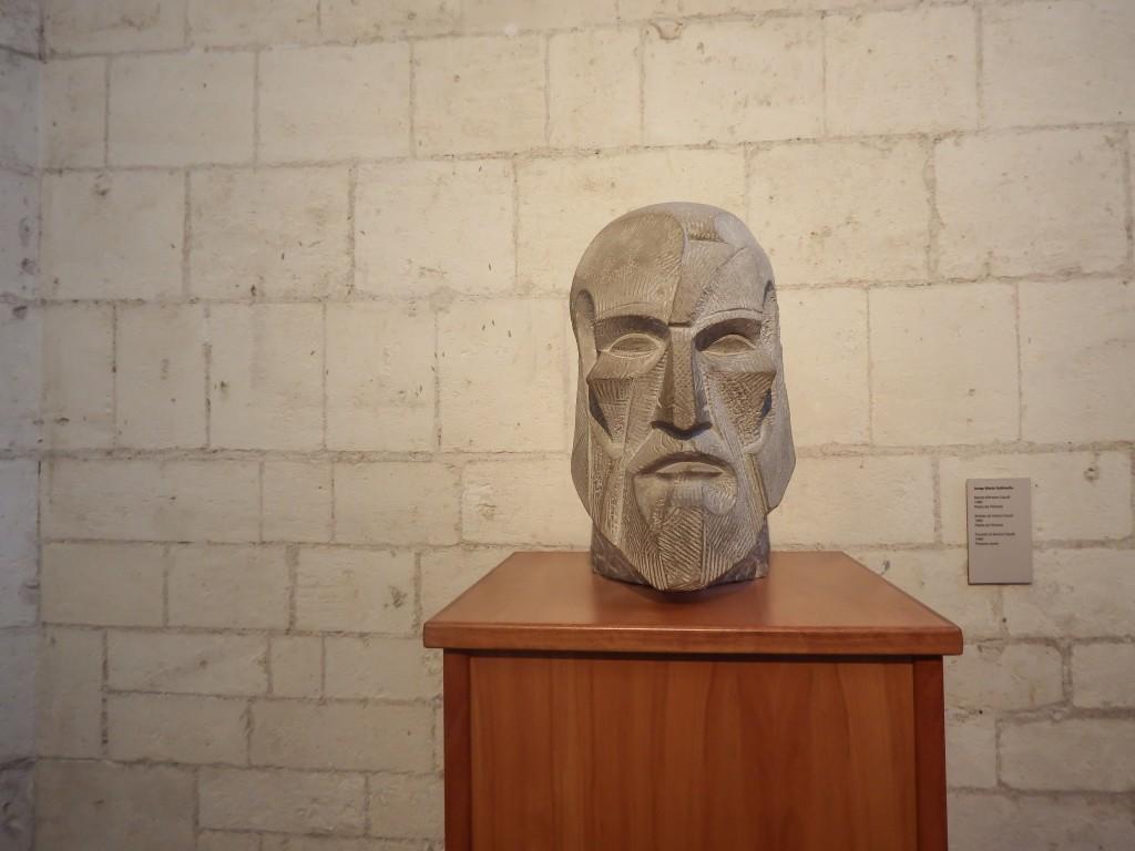 Statue in the basement museum of Sagrada Familia in Barcelona, Spain