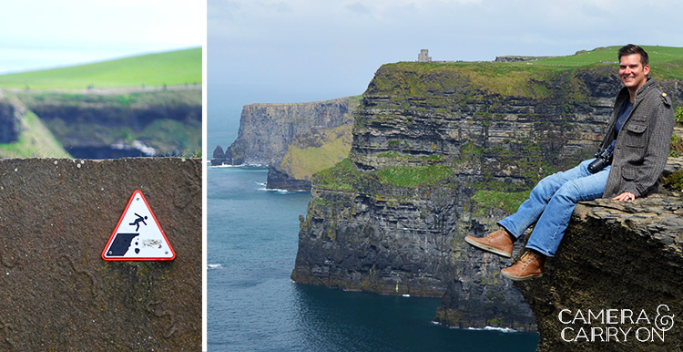 doing crazy things at the Cliffs of Moher in Ireland