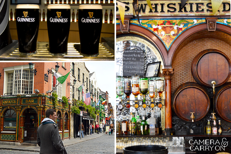 pub crawling and Guinness while exploring ireland