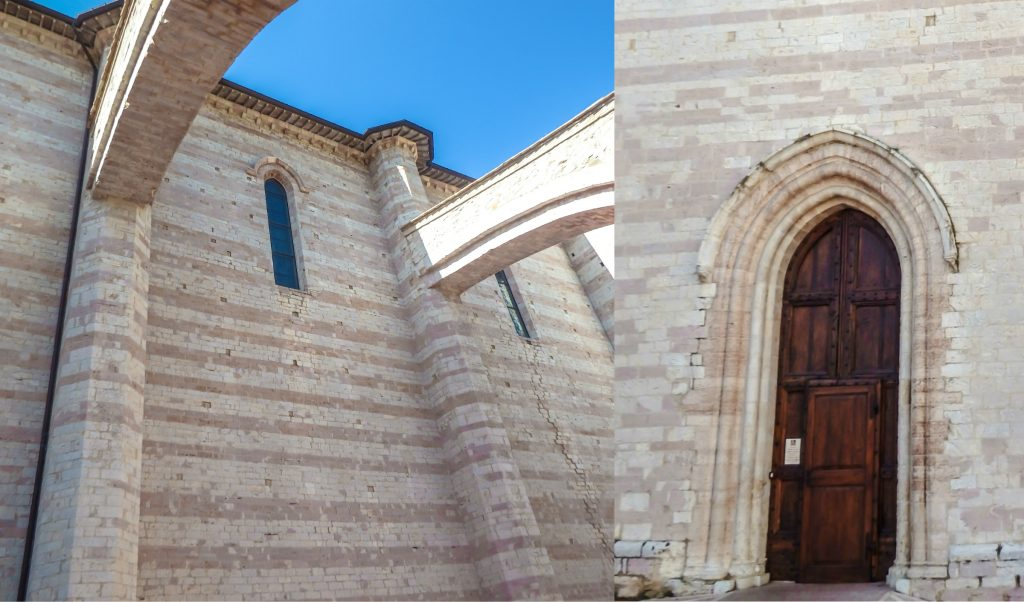 The beautiful Basilica di Santa Chiara in Assisi, Italy
