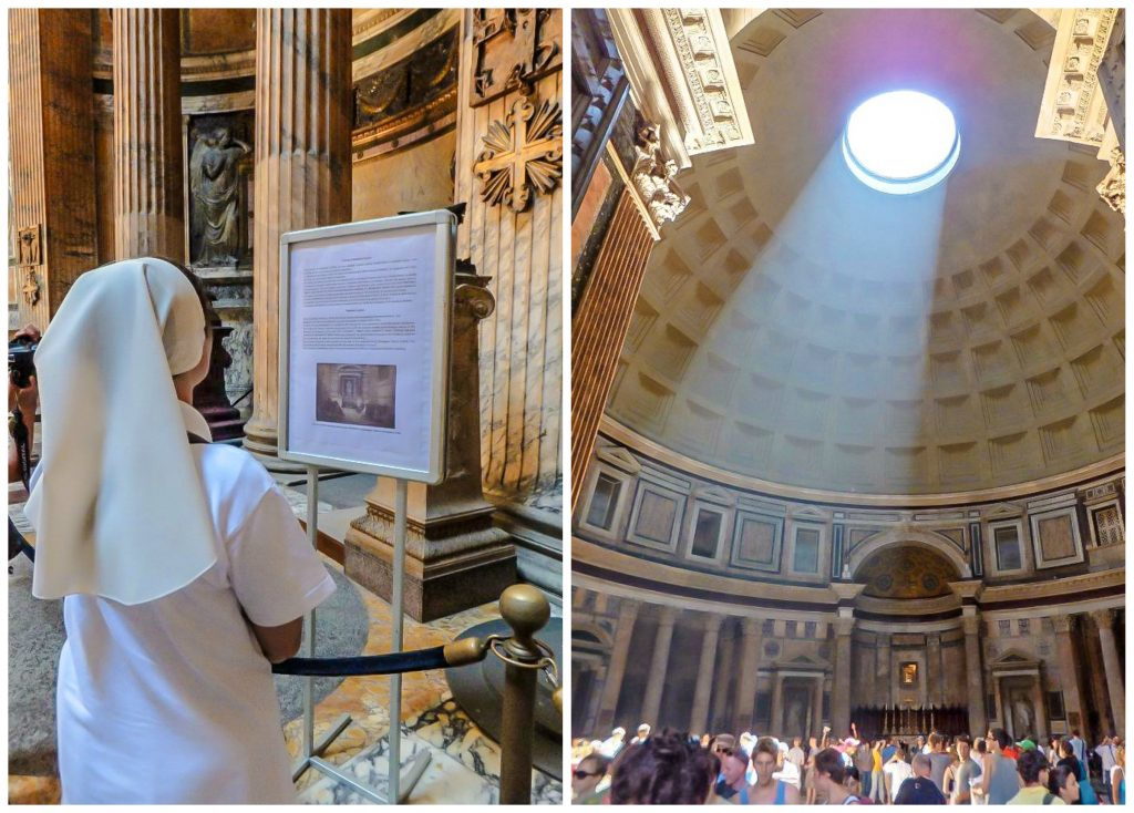 Inside the Pantheon during 2 days in Rome, Italy