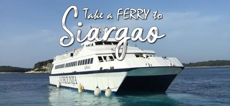 take a ferry to Siargao