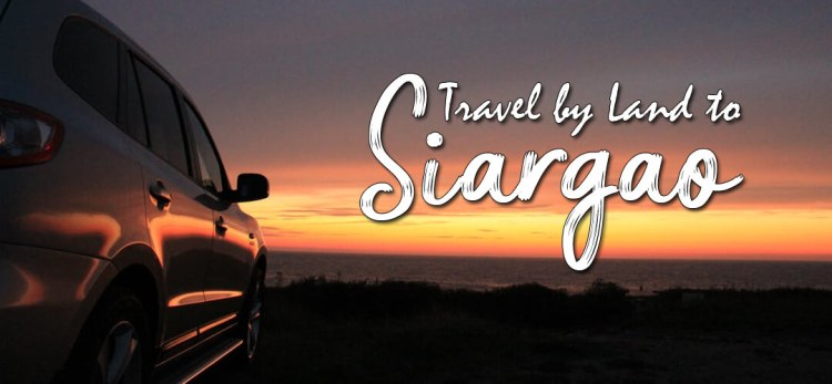 travel by land to siargao