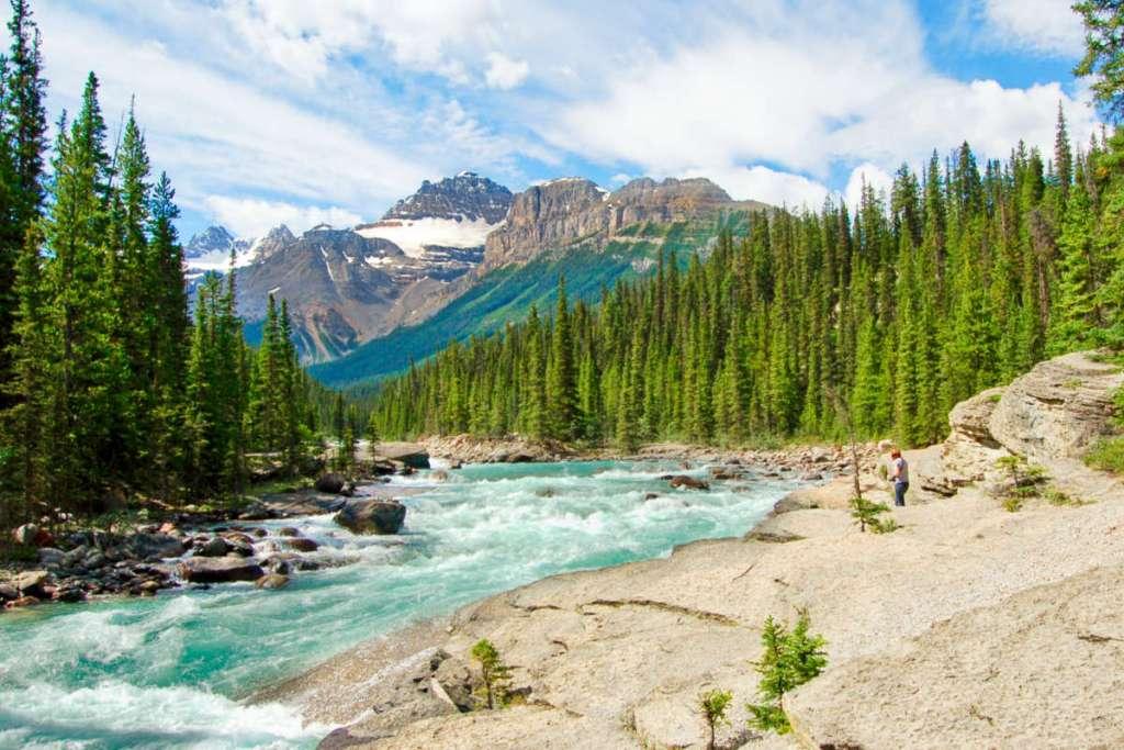 Vodopády, národní park Banff