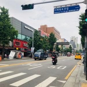梨泰院の通り