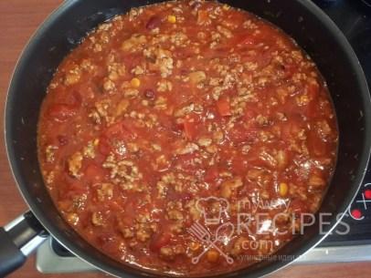 фарш с грибами луком томатной пастой